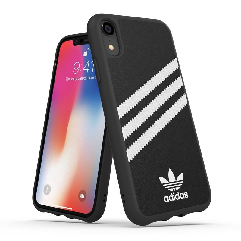 Adidas Moulded Case iPhone Xr zwart/wit 03