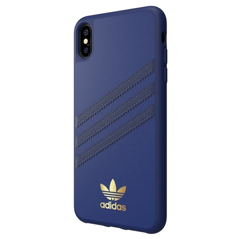 Adidas Moulded Case iPhone Xs Max hoesje blauw/goud 04