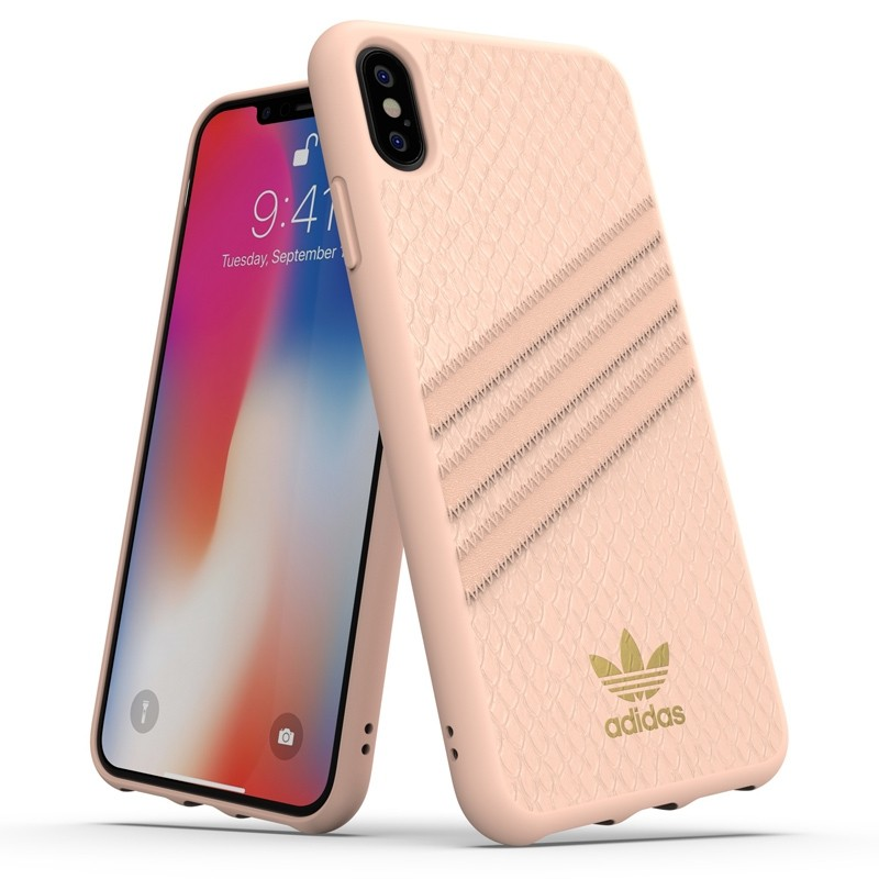 Adidas Moulded Case Snake iPhone XS Max hoesje roze 03