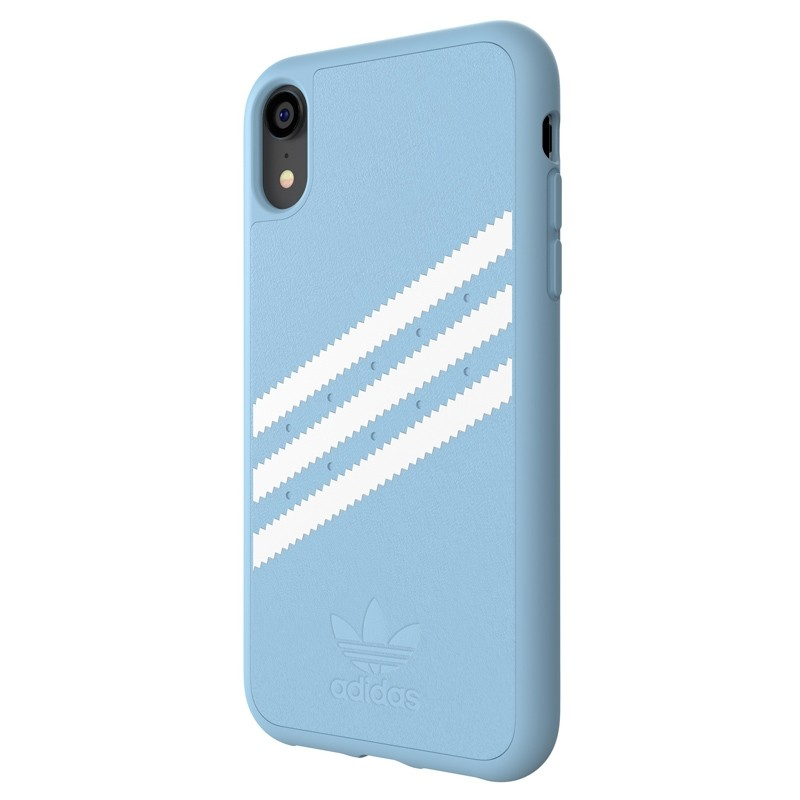 Adidas Moulded Case Suede iPhone Xr baby blauw 04