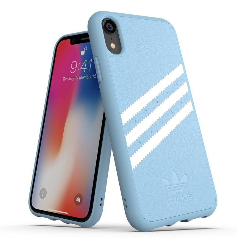 Adidas Moulded Case Suede iPhone Xr baby blauw 03