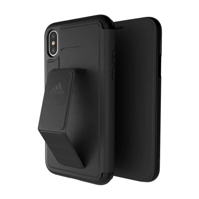 Adidas SP - Grip Case Folio iPhone X/Xs Zwart - 5