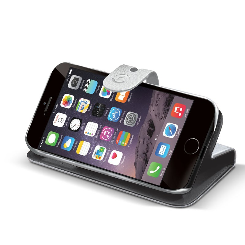Celly Ambo 2-in-1 Wallet iPhone 6 White - 2