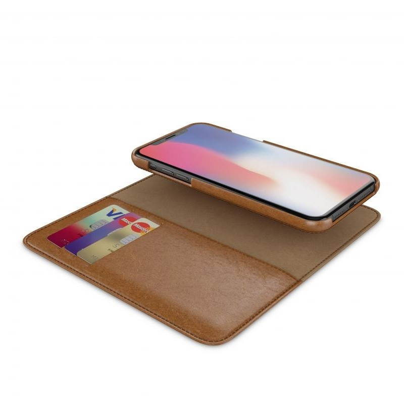 BeHello 2-in-1 Wallet Case iPhone X/Xs Bruin 03