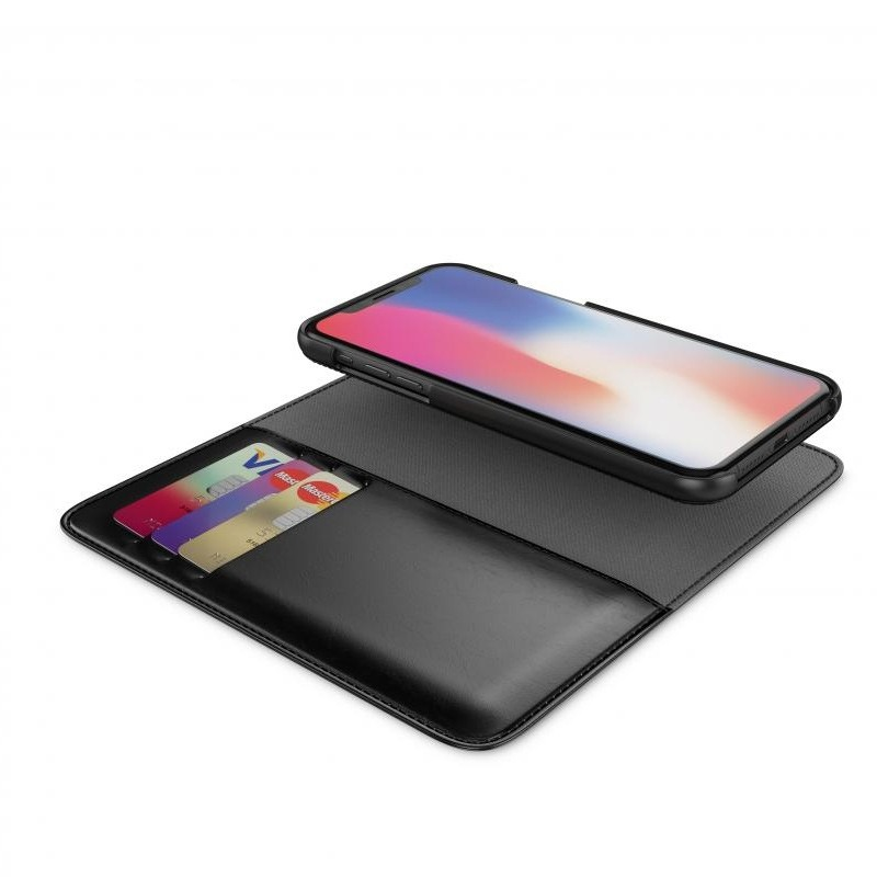 BeHello 2-in-1 Wallet Case iPhone X/Xs Zwart 03