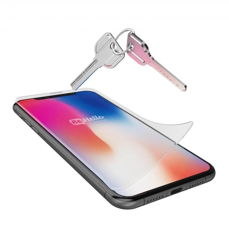 BeHello Anti-Fingerprint Gloss Screenprotector iPhone X 02