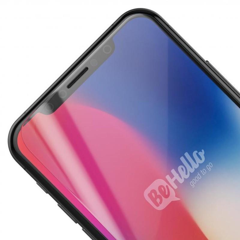 BeHello Anti-Fingerprint Gloss Screenprotector iPhone X 03
