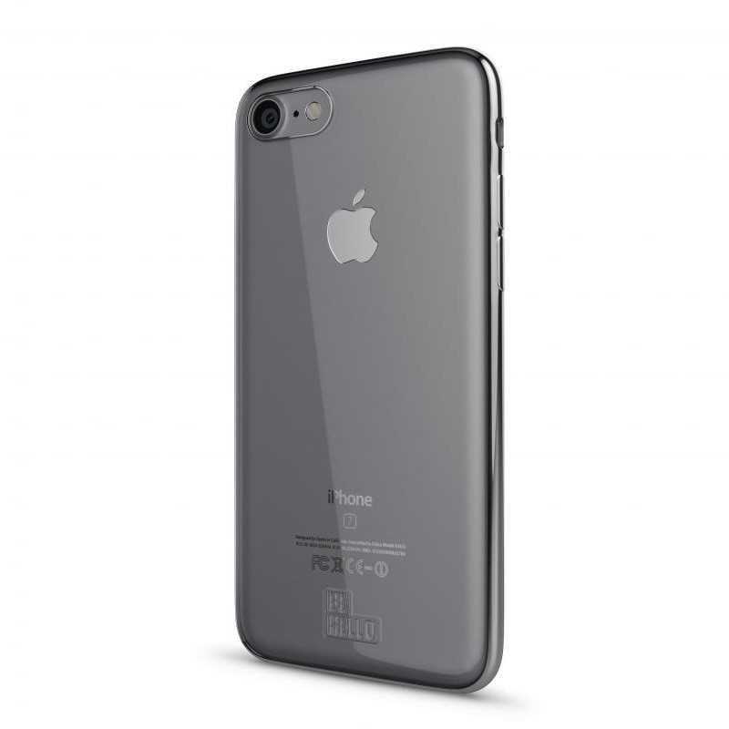 BeHello Gel Case Chrome Edge iPhone 8/7/6S/6 Zilver - 1