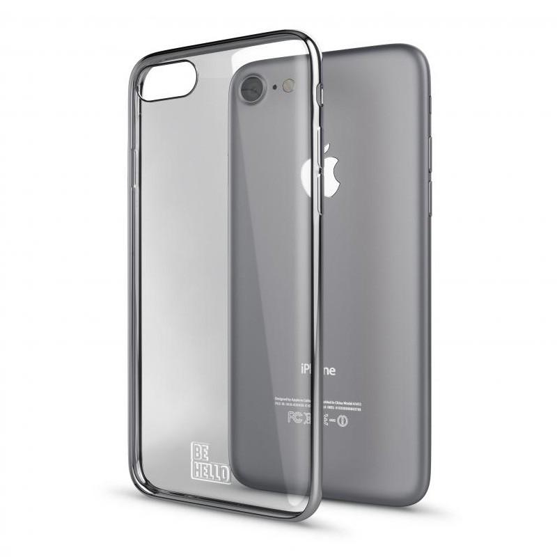 BeHello Gel Case Chrome Edge iPhone 8/7/6S/6 Zilver - 3