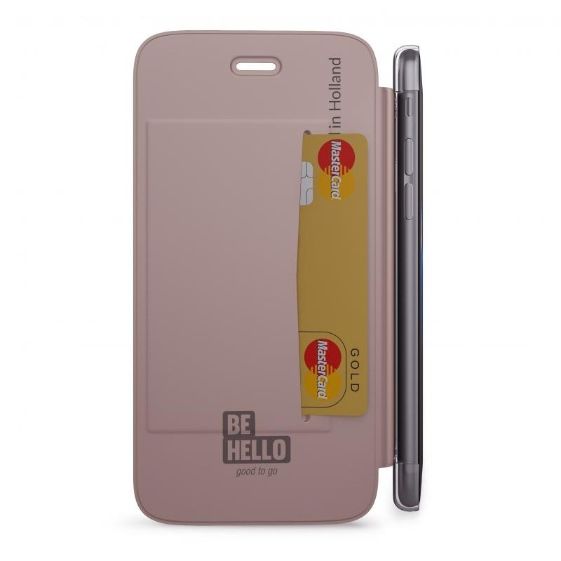 BeHello Clear Back Wallet Case iPhone 8/7/6S/6 Rose Goud - 3