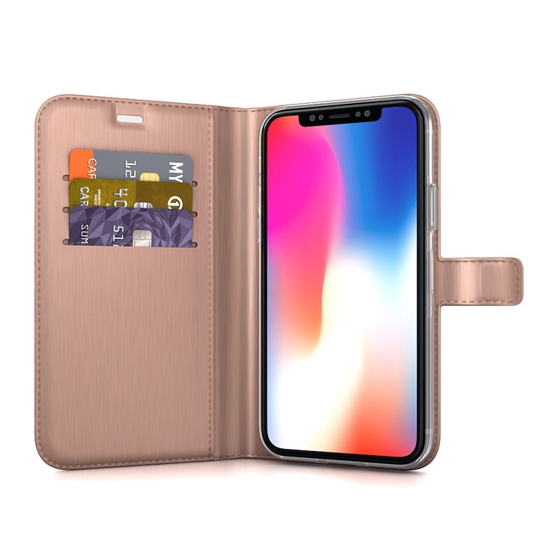 BeHello Gel Wallet Case iPhone XS Max Roze 03