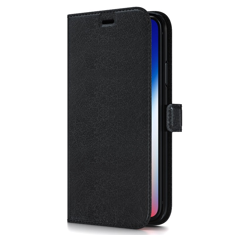 BeHello Gel Wallet Case iPhone XS Max Zwart 01