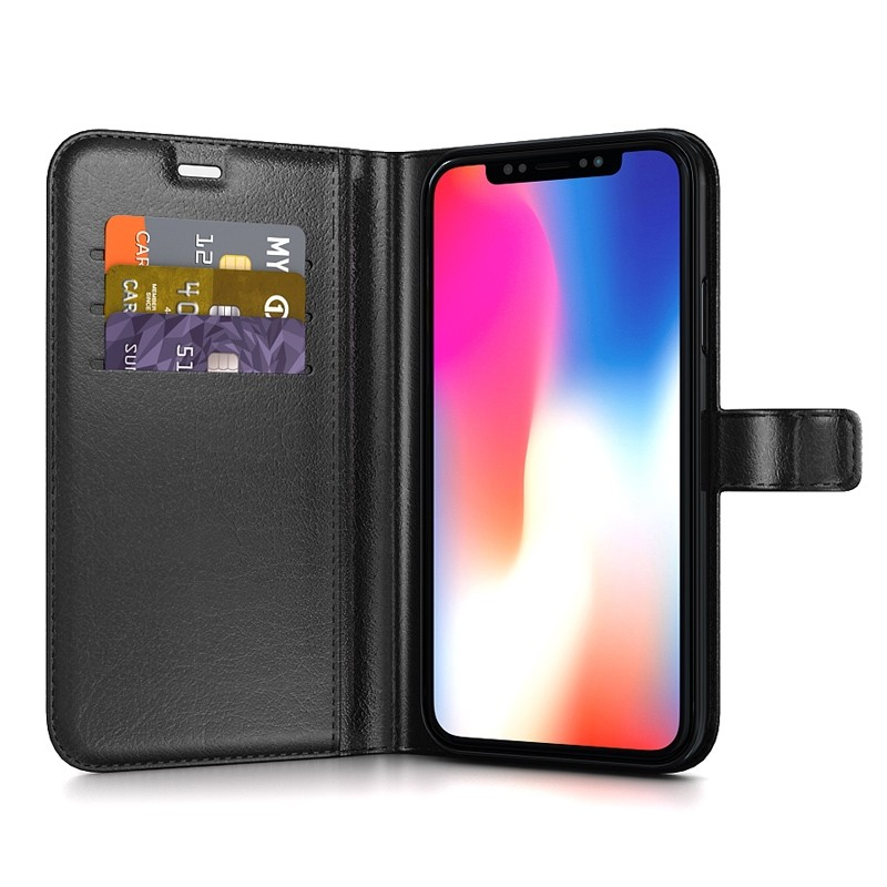 BeHello Gel Wallet Case iPhone XS Max Zwart 03
