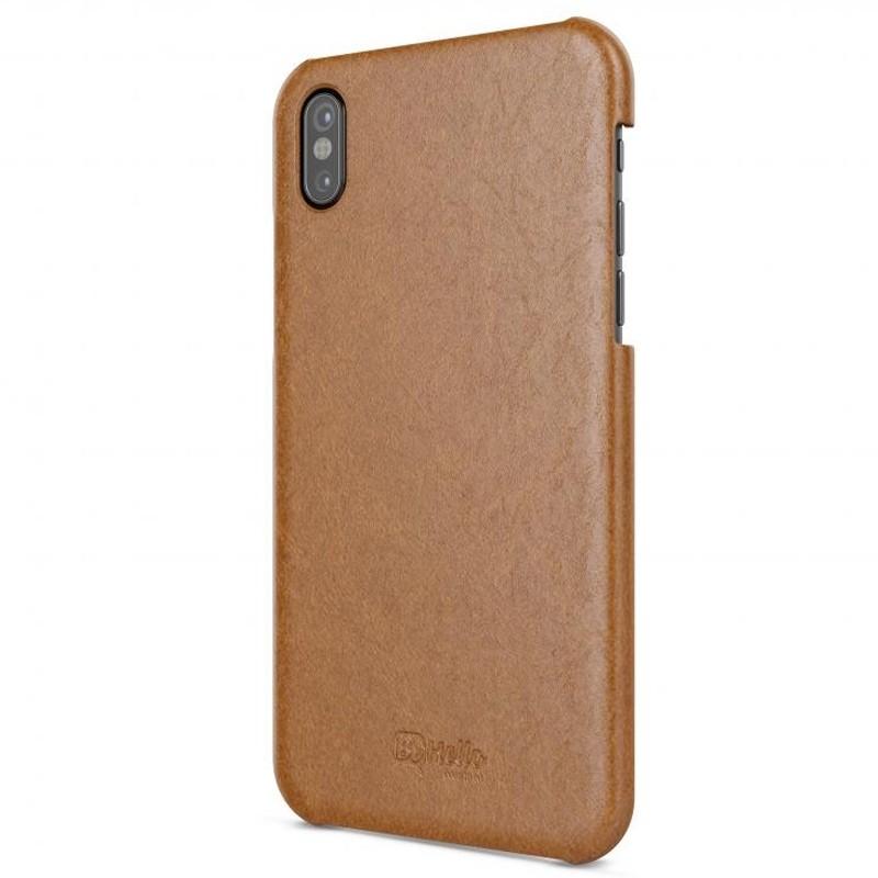 BeHello Leather Case iPhone X/Xs Hoesje Bruin 01