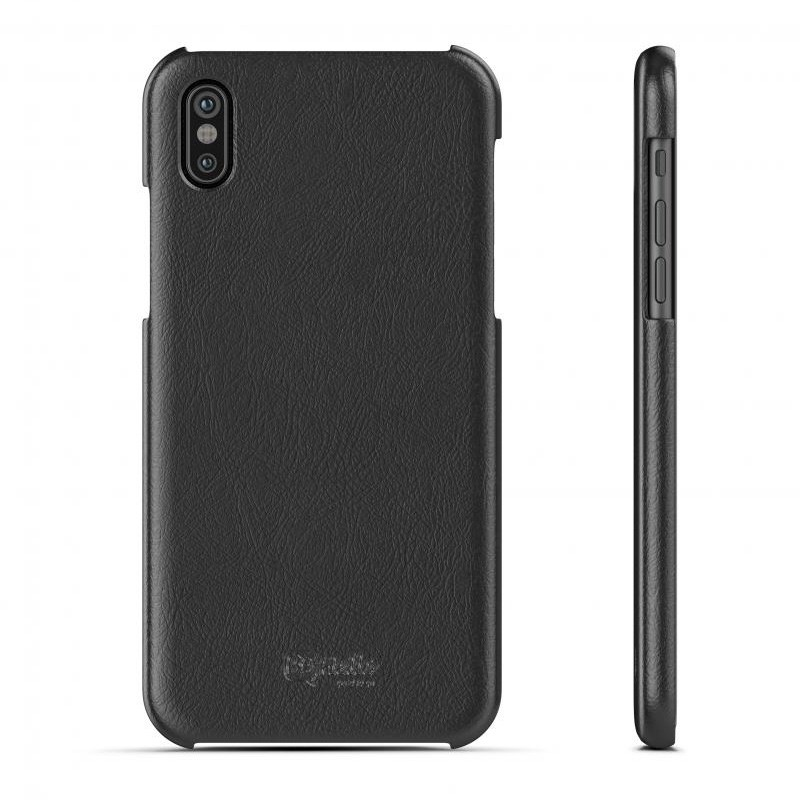 BeHello Leather Case iPhone X/Xs Hoesje Zwart 03