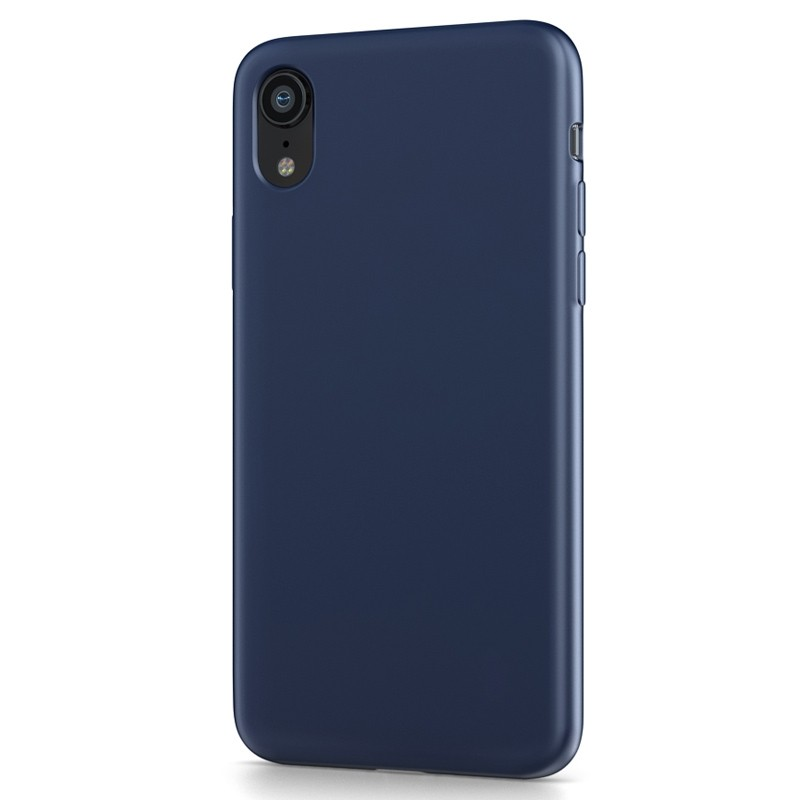 BeHello Liquid Silicon Case iPhone XR Blauw 01