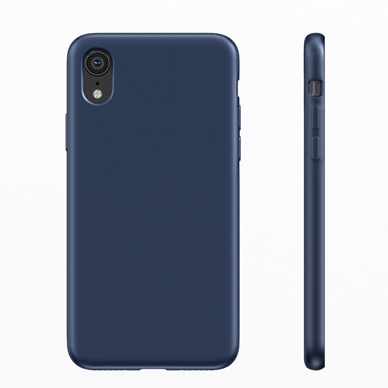 BeHello Liquid Silicon Case iPhone XR Blauw 04