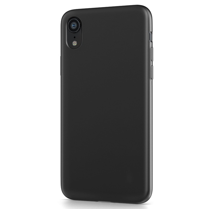 BeHello Liquid Silicon Case iPhone XR Zwart 01