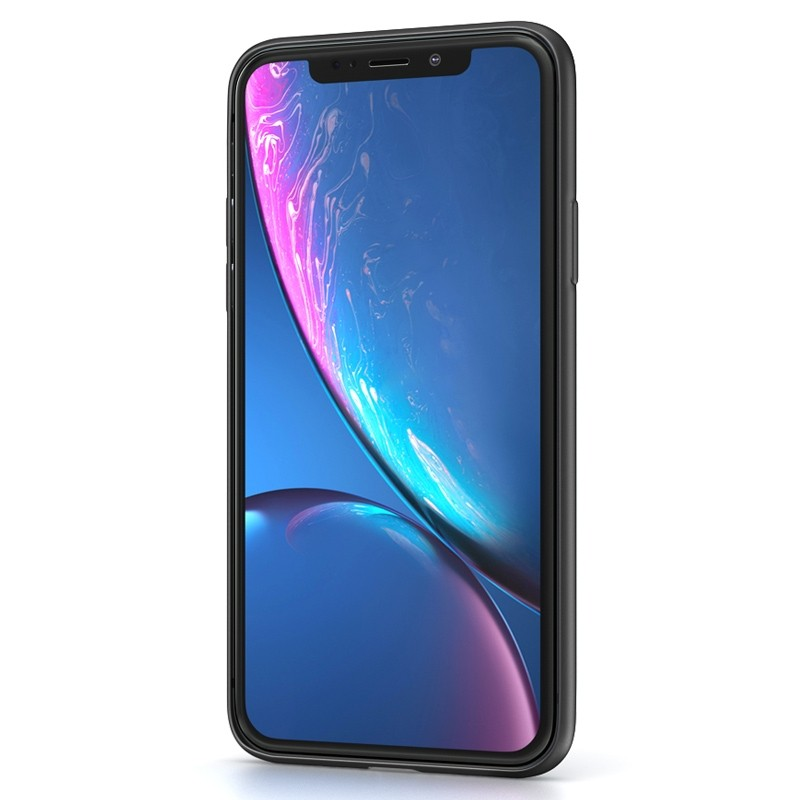 BeHello Liquid Silicon Case iPhone XR Zwart 02