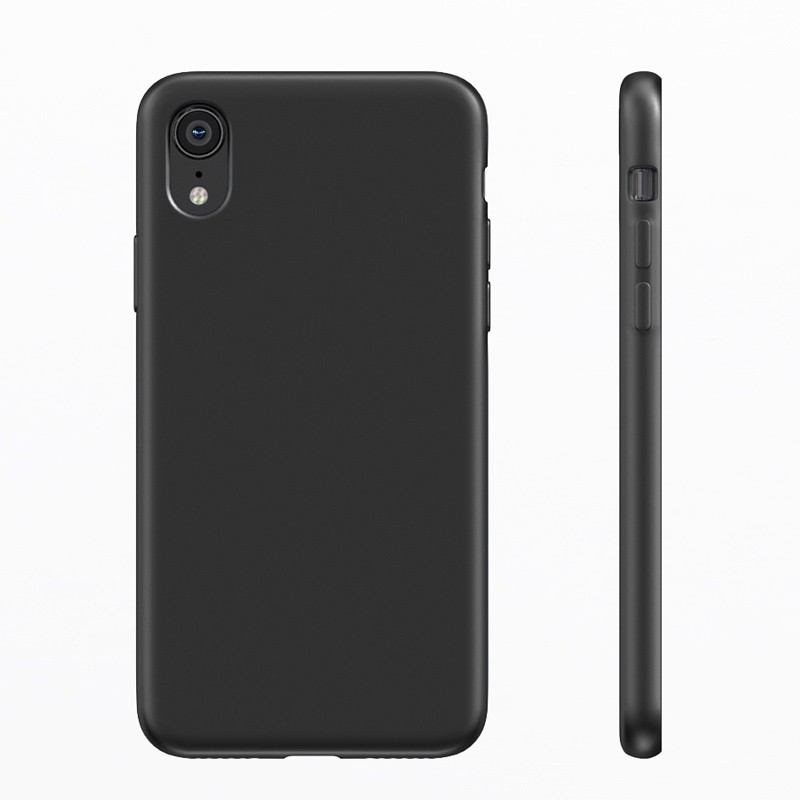 BeHello Liquid Silicon Case iPhone XR Zwart 04