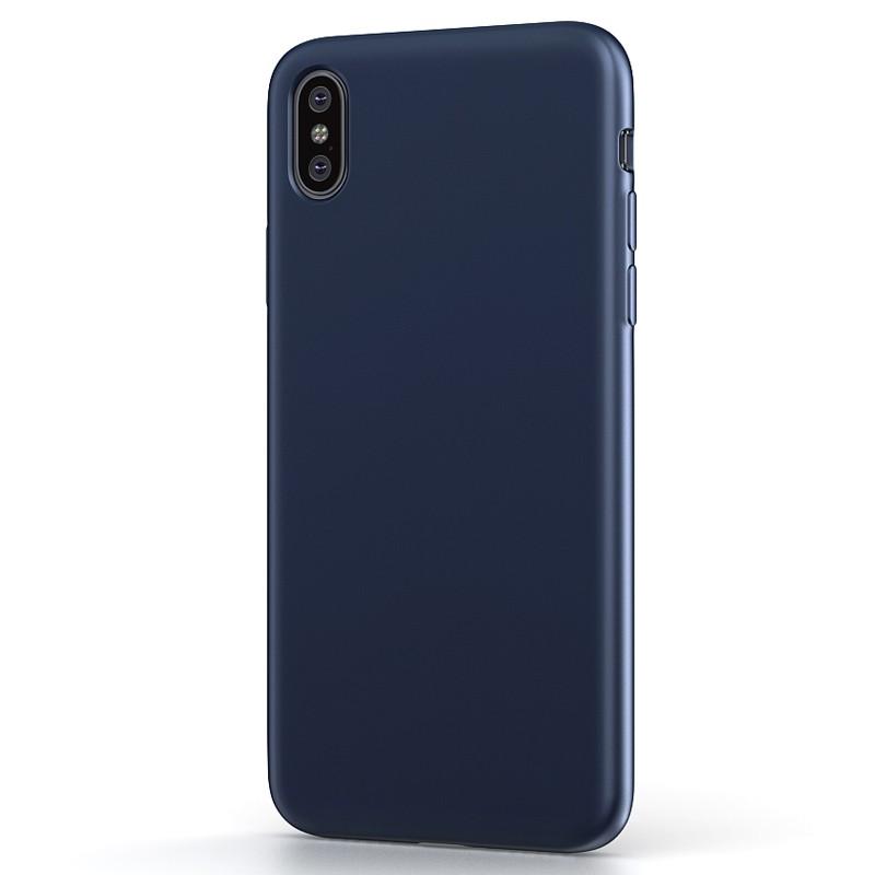 BeHello Liquid Silicon Case iPhone XS Max Blauw 01