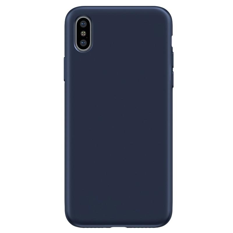 BeHello Liquid Silicon Case iPhone XS Max Blauw 02
