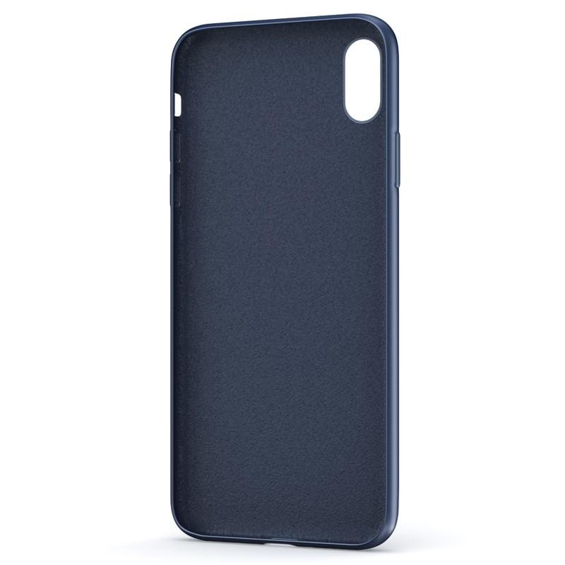 BeHello Liquid Silicon Case iPhone XS Max Blauw 03
