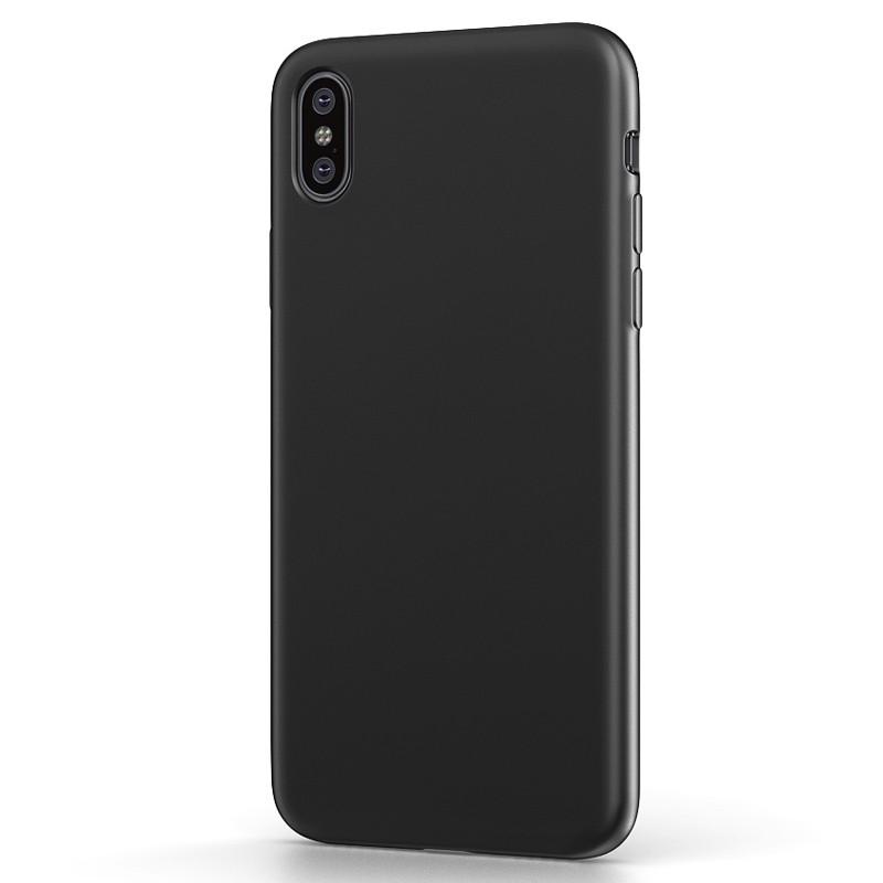 BeHello Liquid Silicon Case iPhone XS Max Zwart 01
