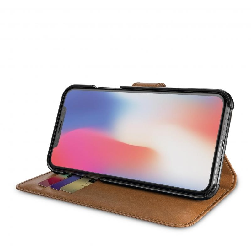 BeHello Wallet Case voor Apple iPhone X/Xs Bruin 03