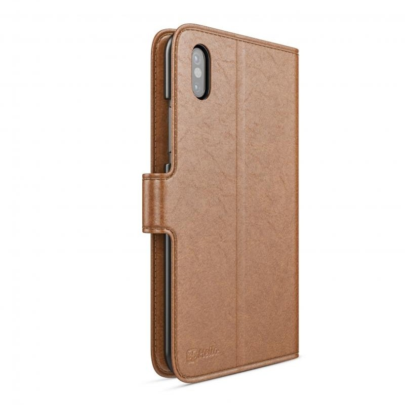 BeHello Wallet Case voor Apple iPhone X/Xs Bruin 04