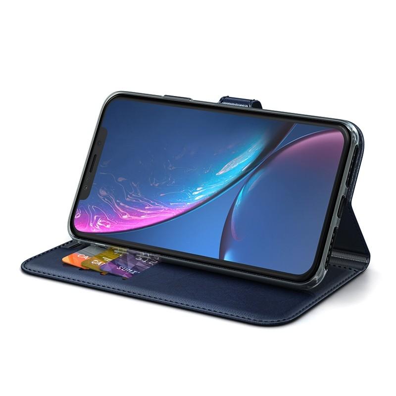 BeHello Wallet Case iPhone XR Blauw 02