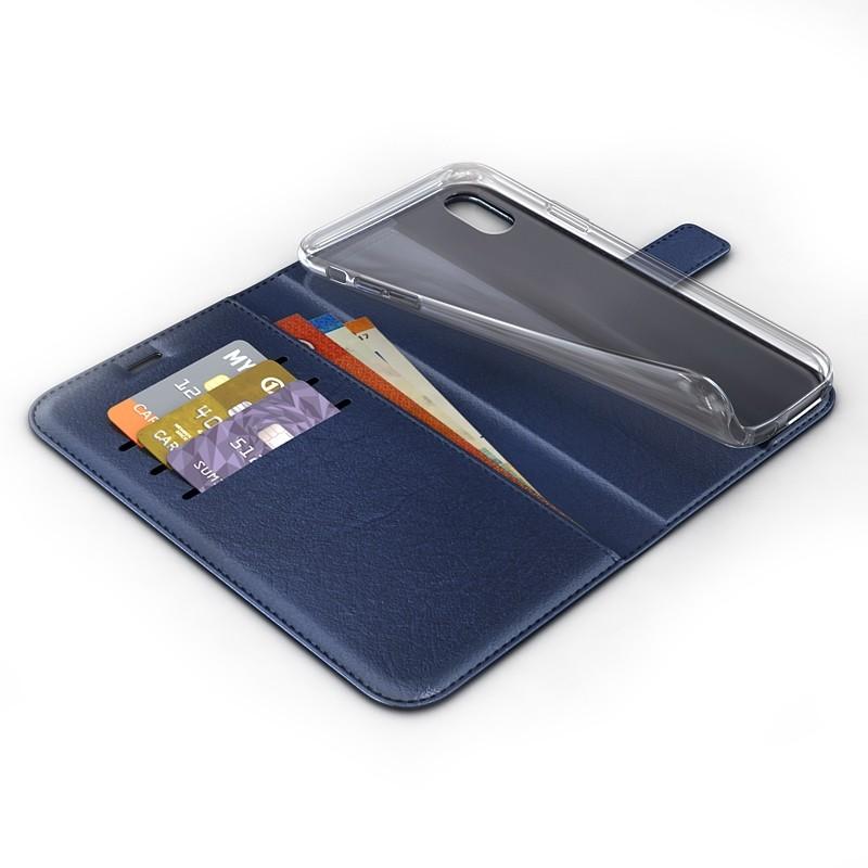 BeHello Wallet Case iPhone XR Blauw 03