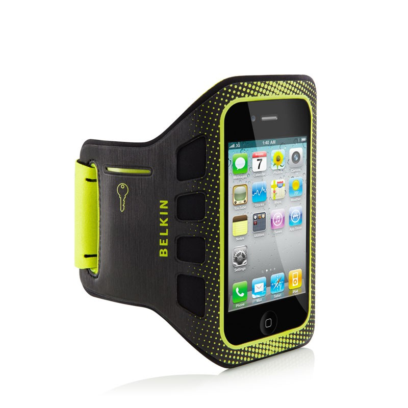 Belkin EaseFit iPhone 4(S) Sportarmband (yellow) 01