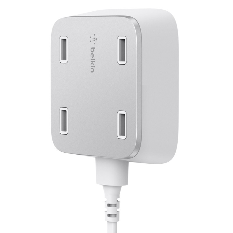 Belkin - Family Rockstar 4-Port USB Oplaadstation White 03
