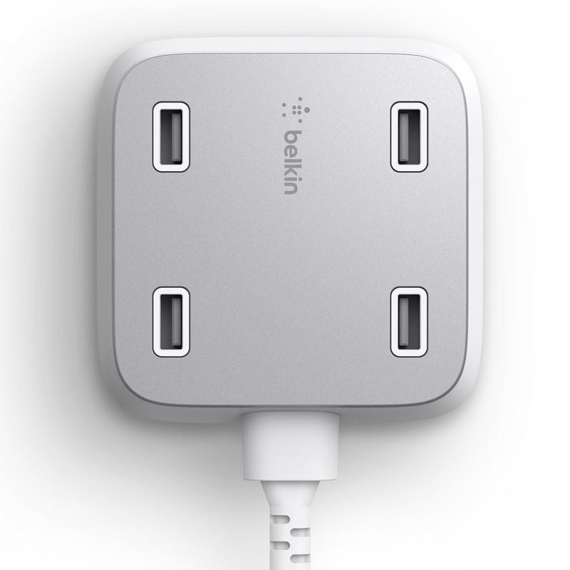 Belkin - Family Rockstar 4-Port USB Oplaadstation White 01