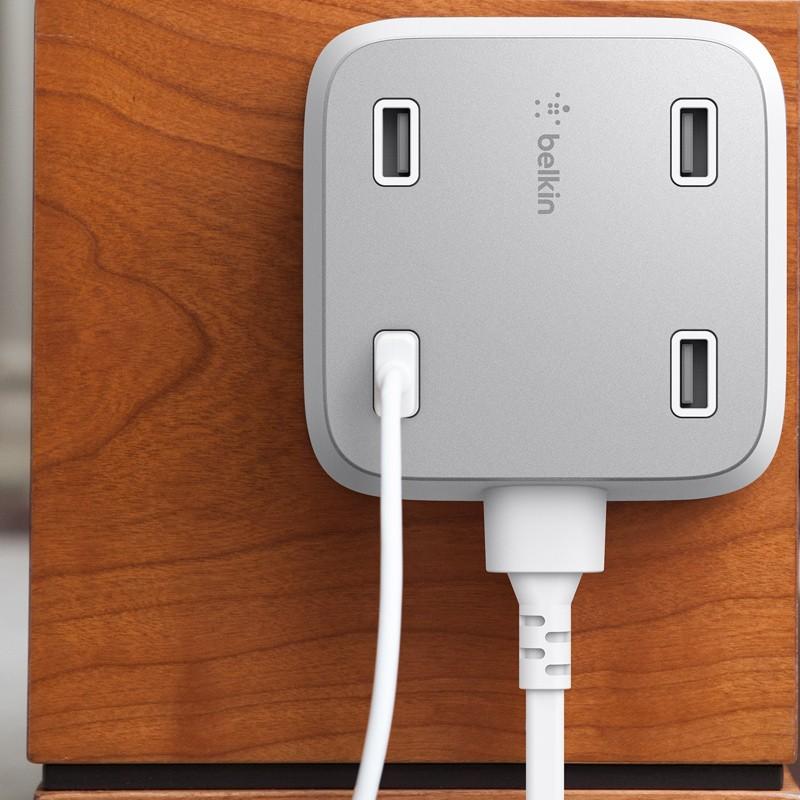 Belkin - Family Rockstar 4-Port USB Oplaadstation White 04