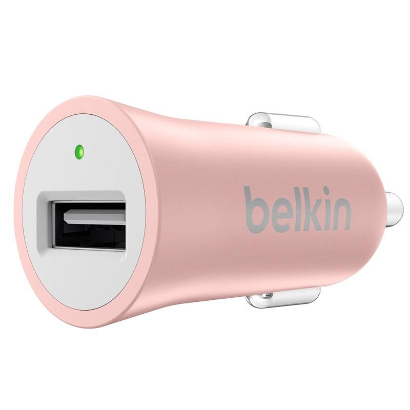 Belkin - Metallic Autolader met Lightning Kabel Rose Gold 02