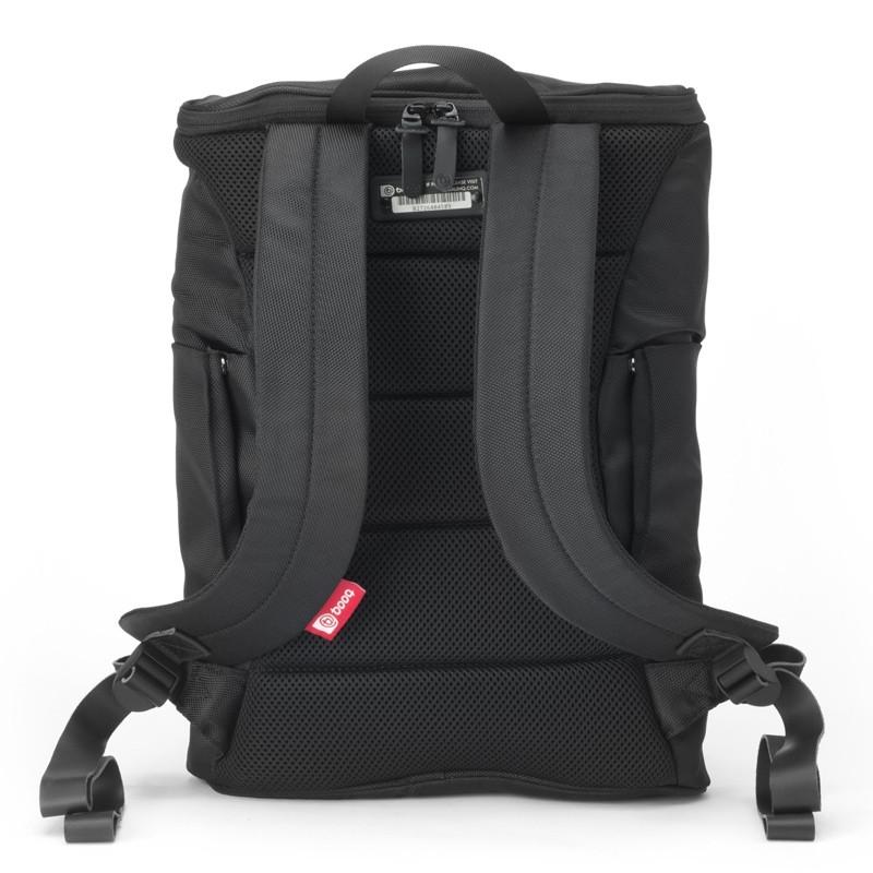 Booq Daypack 15,6 inch Laptop Rugzak Zwart/Rood 06