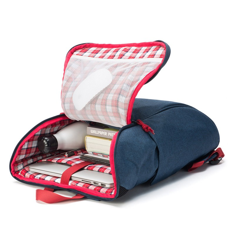 Booq Daypack 15,6 inch Laptop Rugzak Navy-Red 06