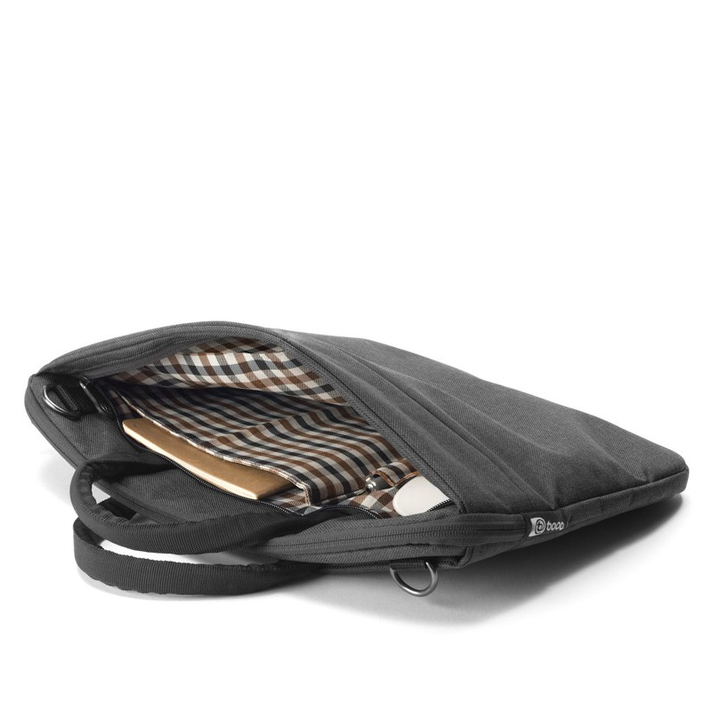 Booq - Superslim 13 inch Laptoptas Black Tan 09