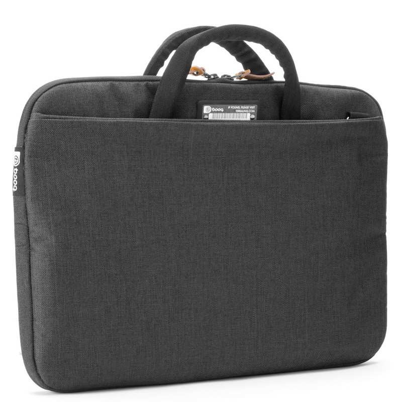 Booq - Superslim 15 inch Laptoptas Black Tan 04
