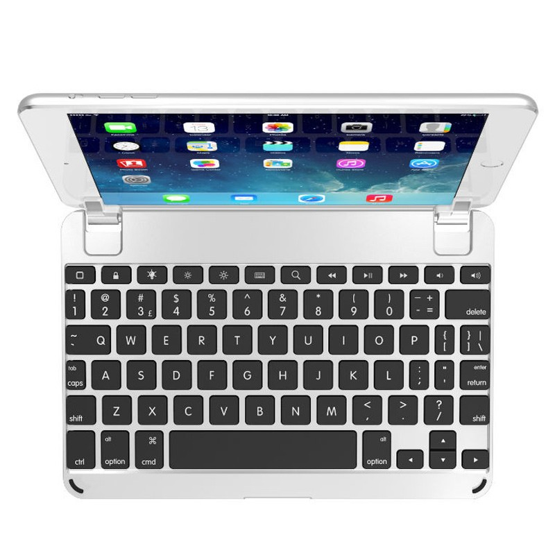 Brydge - Keyboard 7.9 inch iPad mini 4 Silver 02