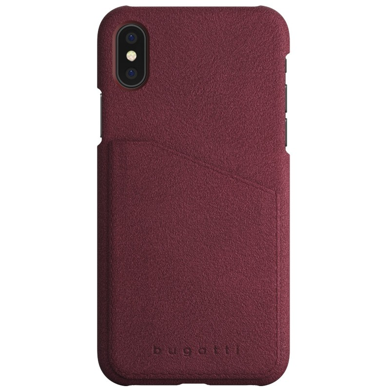 Bugatti Londra Ultra Suede iPhone X/Xs Raspberry Red - 1