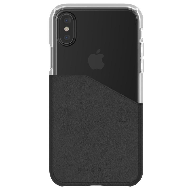 Bugatti Premium See Through Case iPhone X Black/Clear - 1