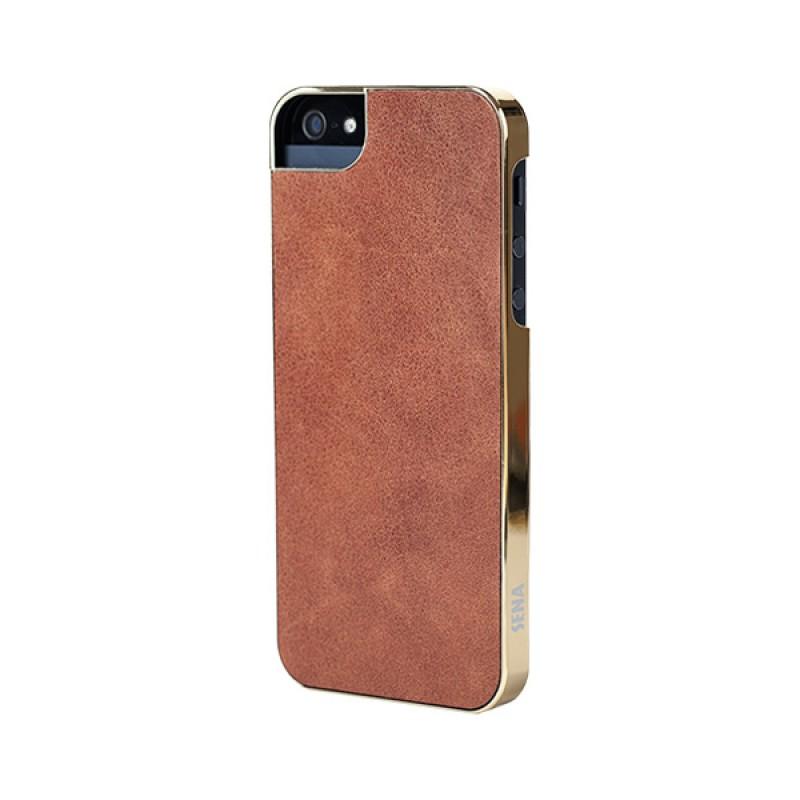Sena Ultra Thin Snap On iPhone 5/5S Caramel/gold