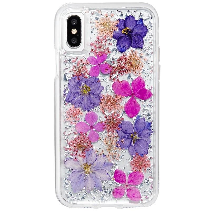 Case-Mate Karat Petals iPhone X/Xs Bloemen Paars 01
