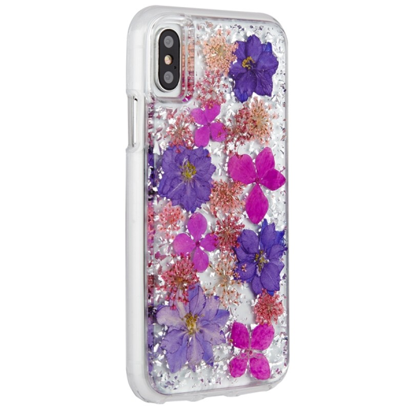 Case-Mate Karat Petals iPhone X/Xs Bloemen Paars 02