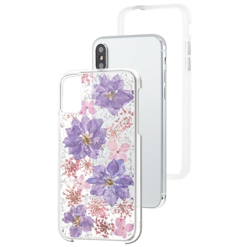 Case-Mate Karat Petals iPhone X/Xs Bloemen Paars 03