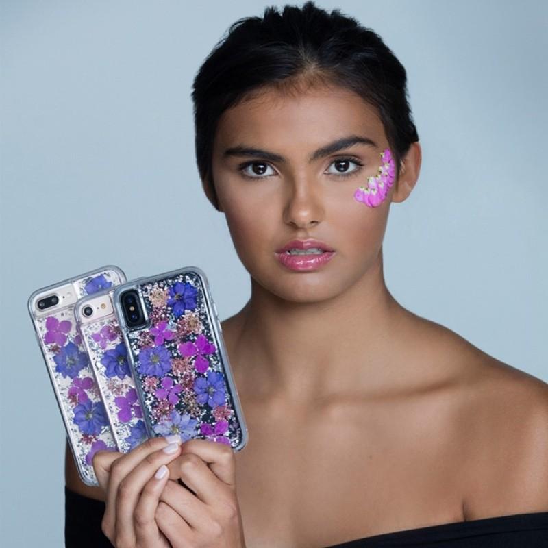 Case-Mate Karat Petals iPhone X/Xs Bloemen Paars 04