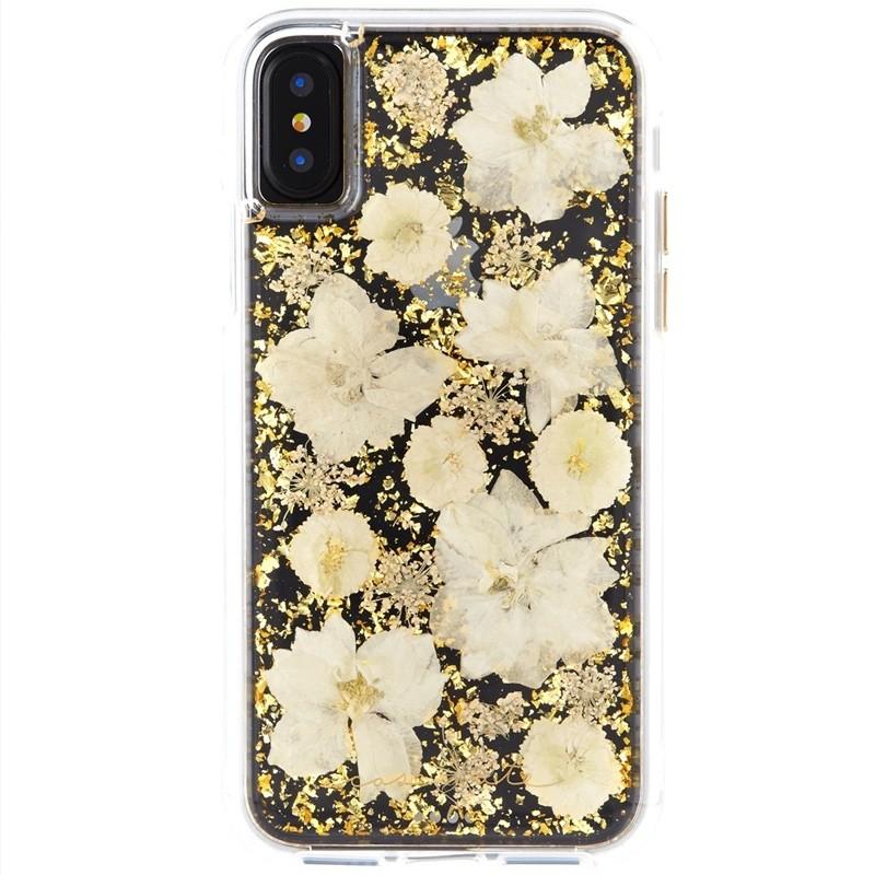 Case-Mate Karat Petals iPhone X/Xs Bloemen Wit 01